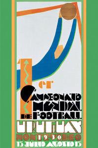 Logo da primeira Copa do Mundo de Futebol de 1930 no Uruguai