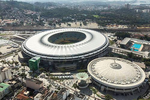 O Estádio Maracanã na Rio de Janeiro como sede da Copa América 2021