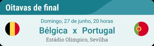 Prognóstico Jogo Bélgica x Portugal na Eurocopa 2021 nas oitavas de final