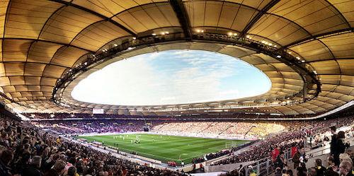 A Mercedes-Benz Arena ou Stuttgart Arena como sede para a EURO 2024 na Alemanha