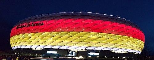 Estádio Allianz Arena em Munique EURO 2024