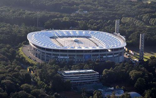 O Deutsche Bank Park (Estádio de Frankfurt) em Frankfurt/Main como estádio EURO 2024