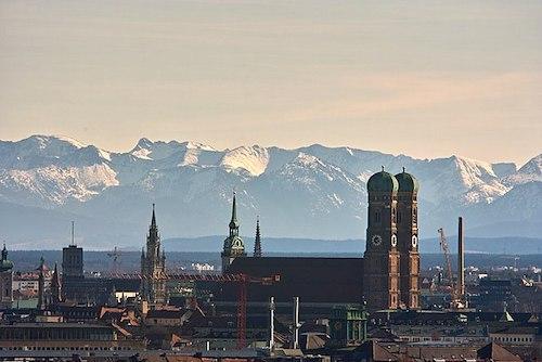 Vista panoramica da cidade de Munique